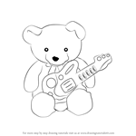 How to Draw Teddy bear with Guitar