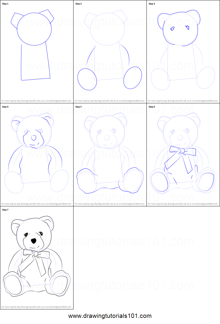 How To Draw A Teddy Bear Printable Step By Step Drawing Sheet