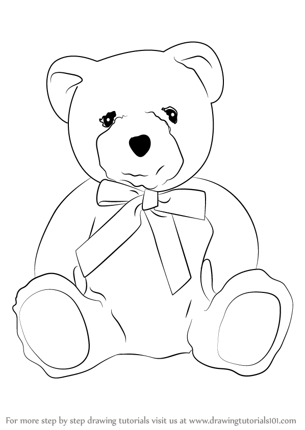 Learn How To Draw A Teddy Bear Soft Toys Step By Step Drawing