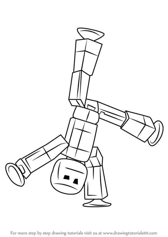 stikbot coloring page coloring pages