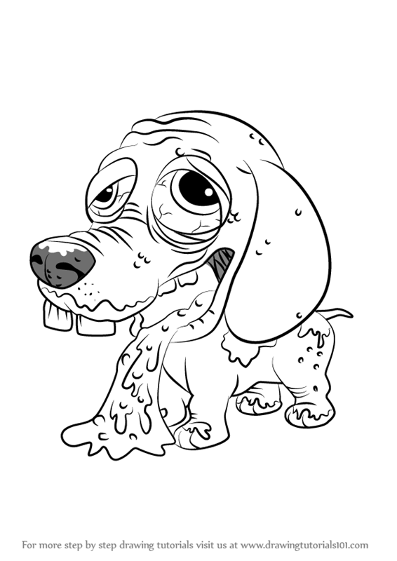 ugglys pet shop coloring pages learn how to draw barfing beagle from the ugglys pet shop