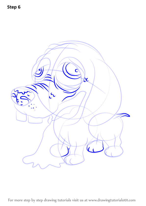 Step by step how to draw barfing beagle from the ugglys for Ugglys pet shop coloring pages