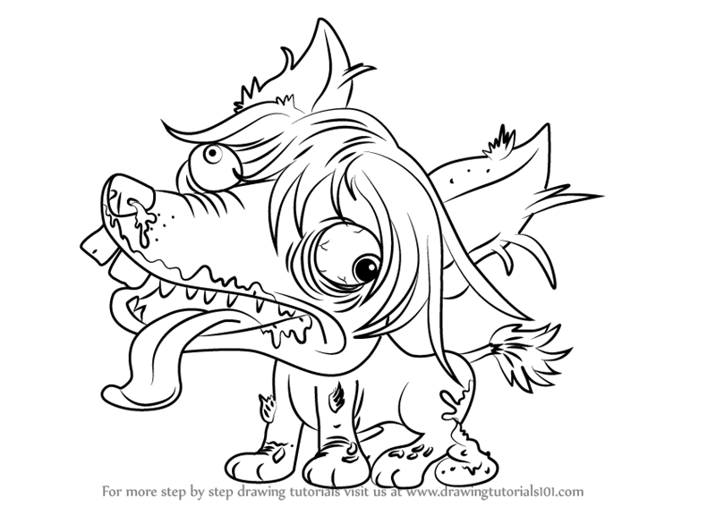 ugliest pet shop coloring pages | Learn How to Draw Chinese Crusted from The Ugglys Pet Shop ...