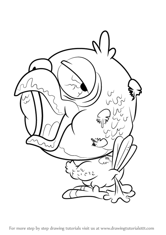 Learn how to draw cracker parrot from the ugglys pet shop for Ugglys pet shop coloring pages