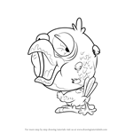 How to Draw Cracker Parrot from The Ugglys Pet Shop