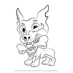 How to Draw Dopey Doberman from The Ugglys Pet Shop