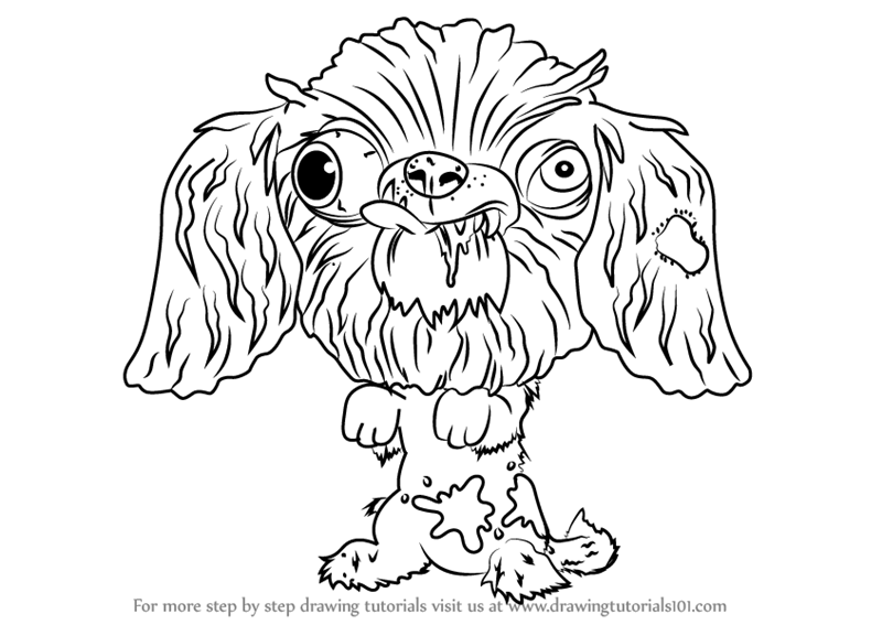 Learn how to draw dork shire terrier from the ugglys pet for Ugglys pet shop coloring pages