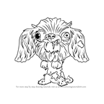 How to Draw Dork-shire Terrier from The Ugglys Pet Shop