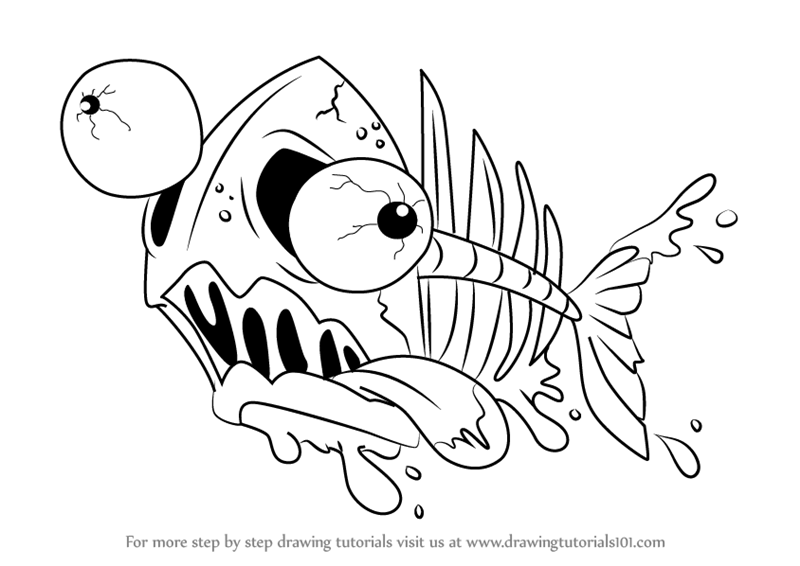 ugglys pet shop coloring pages step by step how to draw filleted fish from the ugglys pet