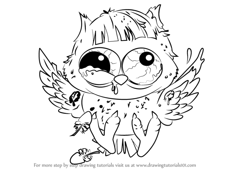 ugliest pet shop coloring pages | Learn How to Draw Foul Owl from The Ugglys Pet Shop (The ...