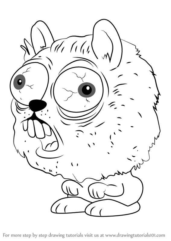 how to draw horrid hamster from the ugglys pet shop