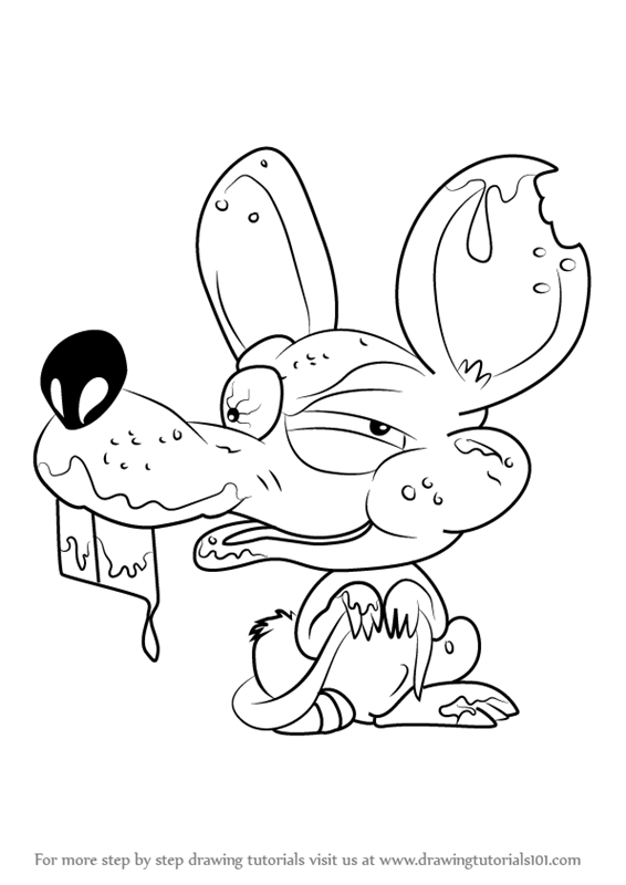 Learn how to draw moldy mouse from the ugglys pet shop for Ugglys pet shop coloring pages