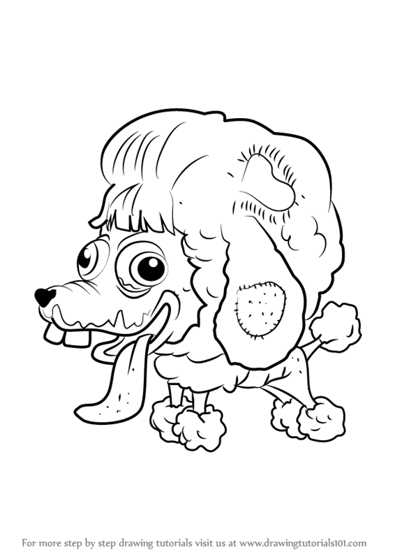 Learn How To Draw Poo Poodle From The Ugglys Pet Shop The