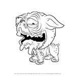 How to Draw Puggly from The Ugglys Pet Shop