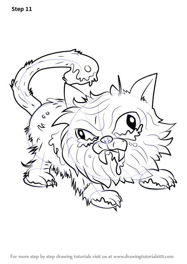 ugglys pet shop coloring pages step by step how to draw putrid persian from the ugglys