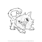 How to Draw Putrid Persian from The Ugglys Pet Shop
