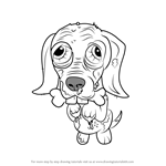 How to Draw Scare-dale Terrier from The Ugglys Pet Shop