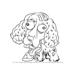 How to Draw Shocker Spaniel from The Ugglys Pet Shop