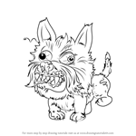 How to Draw Snotty Schnauzer from The Ugglys Pet Shop