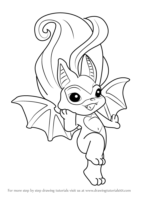Coloring Pages Zelfs : Learn how to draw batrina from the zelfs step