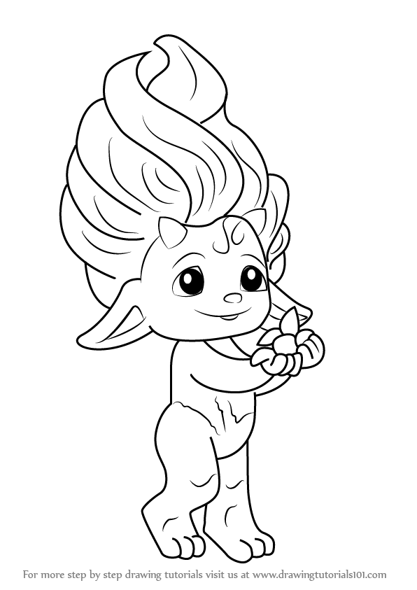 Coloring Pages Zelfs : Step by how to draw birchy from the zelfs