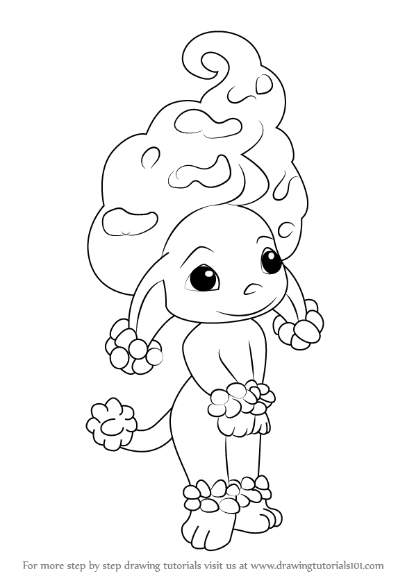 Learn how to draw coco from the zelfs the zelfs step by for Zelf coloring pages