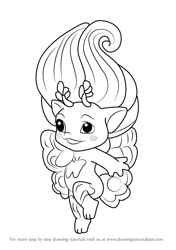 zelfs coloring pages | Learn How to Draw Dolly from The Zelfs (The Zelfs) Step by ...