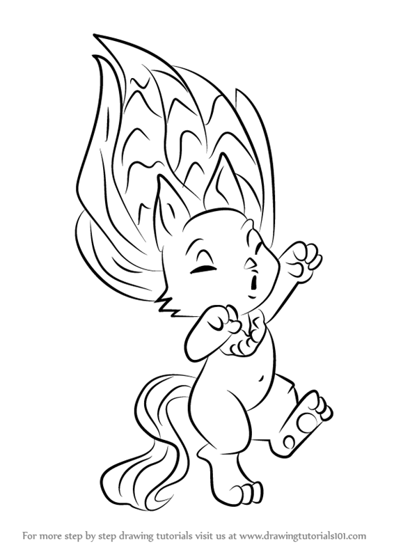 Coloring Pages Zelfs : Learn how to draw howlie from the zelfs step