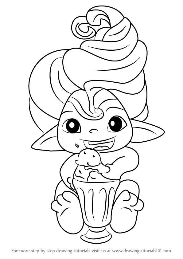 Coloring Pages Zelfs : Learn how to draw mint spellinda from the zelfs