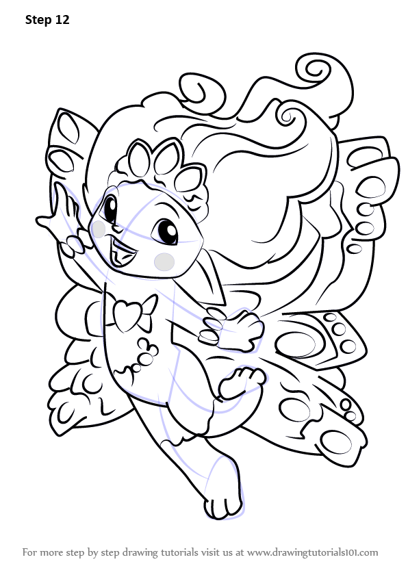 Coloring Pages Zelfs : Step by how to draw princess crystella from the zelfs