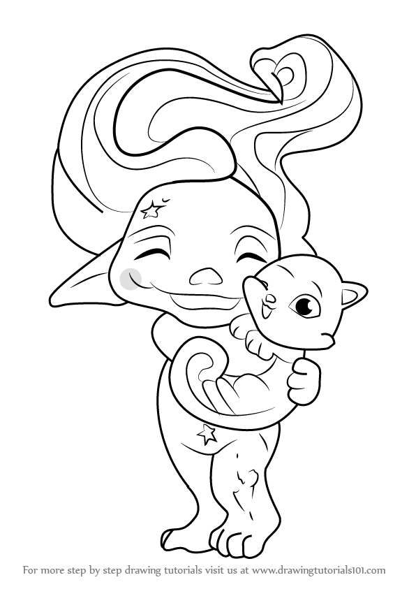 Coloring Pages Zelfs : Step by how to draw spellinda from the zelfs