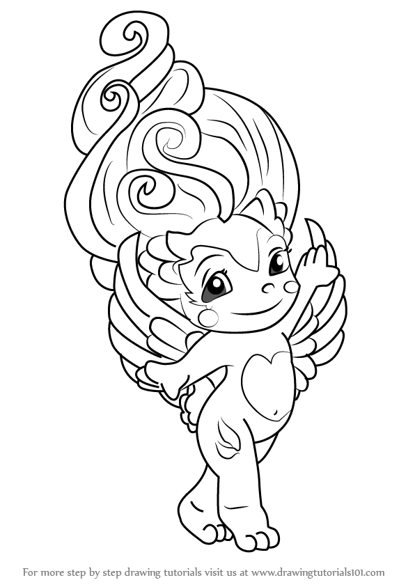 zelfs coloring pages | Learn How to Draw Swanda from The Zelfs (The Zelfs) Step ...