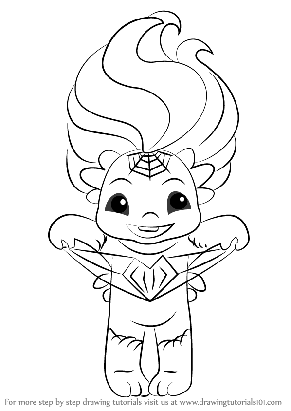 zelfs coloring pages | Learn How to Draw Webina from The Zelfs (The Zelfs) Step ...