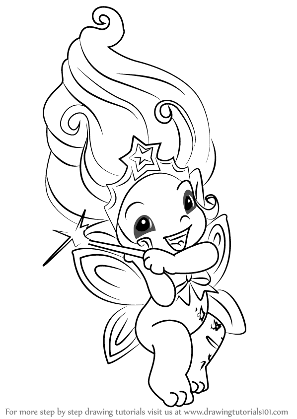 Coloring Pages Zelfs : Learn how to draw wishka from the zelfs step