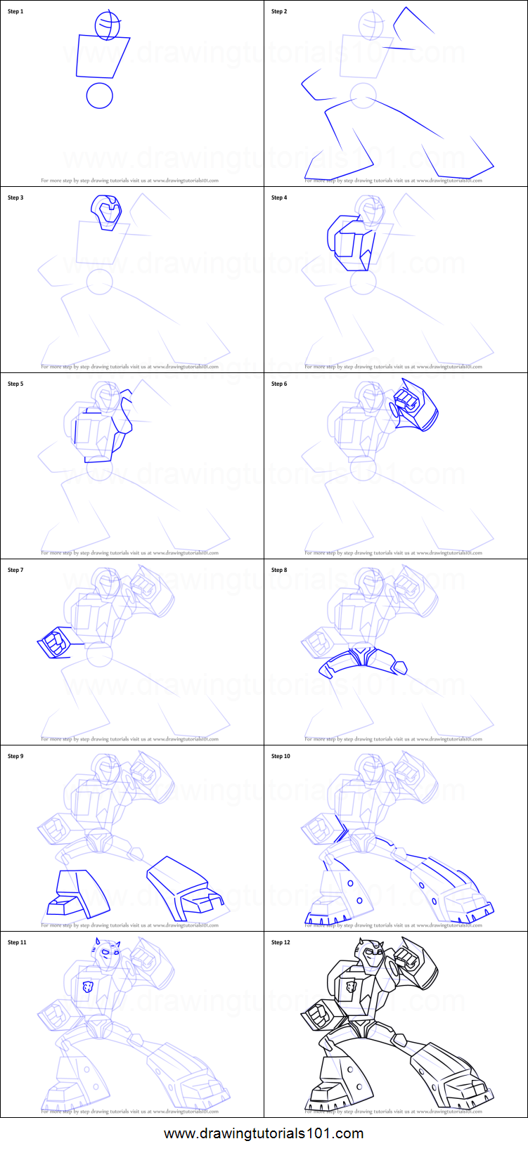 How To Draw Bumblebee From Transformers Home Drawing Tutorials
