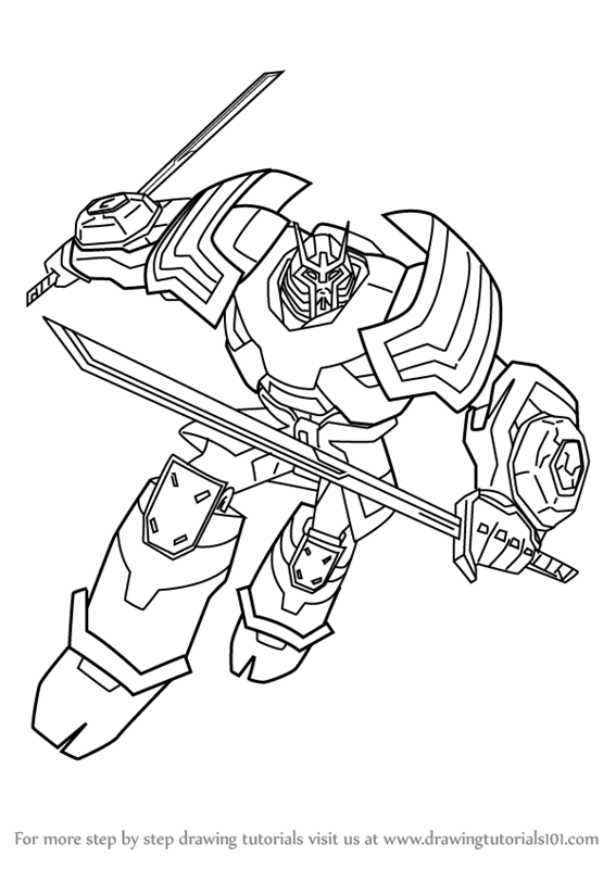 Free printable optimus prime coloring pages coloring pages for free - Learn How To Draw Drift From Transformers Transformers