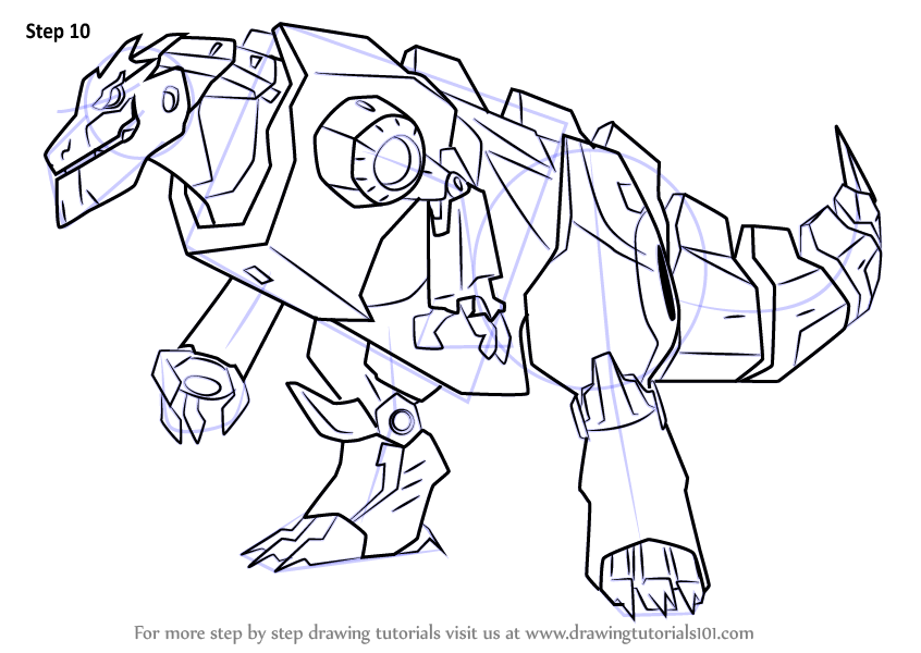 Learn How to Draw Grimlock Disguised