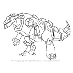 How to Draw Grimlock Disguised from Transformers