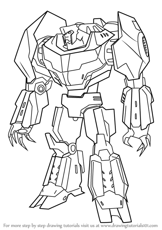 Learn how to draw grimlock from transformers transformers for Grimlock coloring page