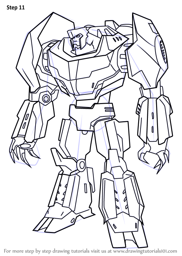 Learn How To Draw Grimlock From Transformers Transformers