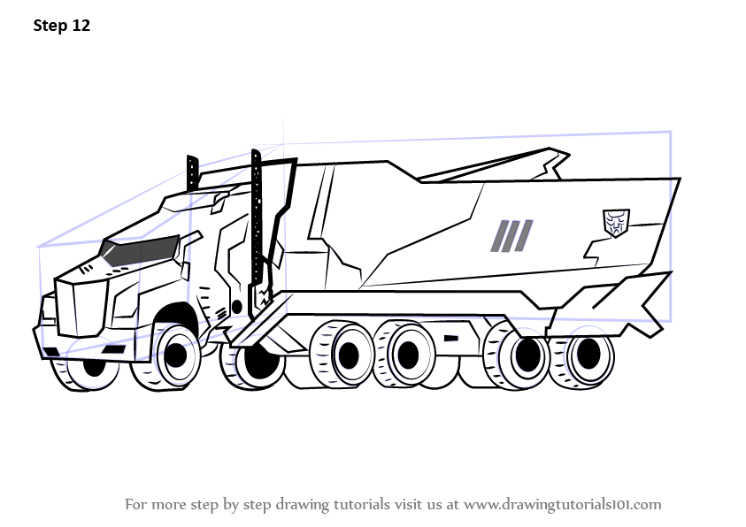 Learn How To Draw Optimus Prime Disguised From