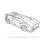 How to Draw Sideswipe Disguised from Transformers