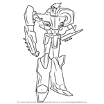 How to Draw Sideswipe from Transformers