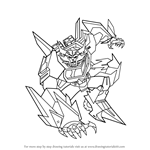 How to Draw Steeljaw from Transformers