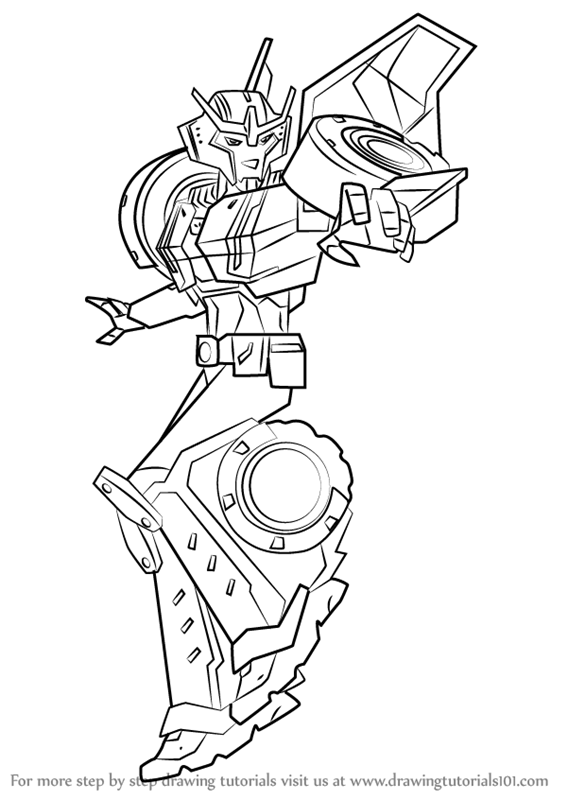 Learn How To Draw Strongarm From Transformers Transformers Step By