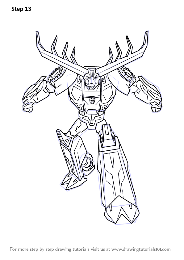 learn how to draw thunderhoof from transformers