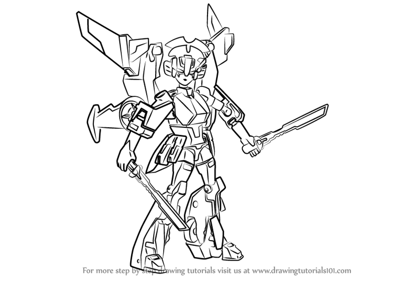 Learn How To Draw Windblade From Transformers