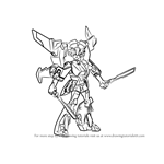 How to Draw Windblade from Transformers