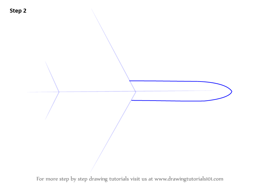 Learn How To Draw An Aeroplane Topview (Airplanes) Step By