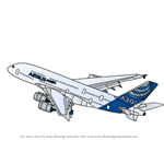 How to Draw Airbus A380